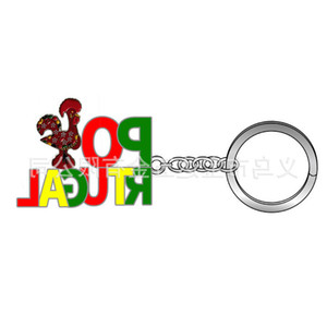 Zinc Alloy Portugal Portuguese Rooster Keychain Lisbon Tramcar Products