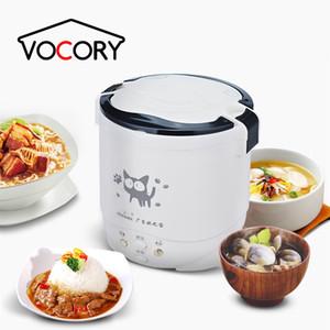 جديد 1L الكهربائية مصغرة طنجرة الأرز البسيطة طباخ الأرز المحمولة المستخدمة في المنزل 220 فولت أو سيارة 12 فولت شاحنة 24 فولت متعددة