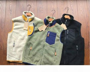Fashion-PATAGONIA Thick warm Classic Retro-X autumn winter couple models lamb cashmere fleece vest for men women 8253
