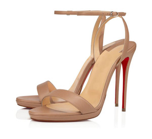 Summer 2021 Red Bottom Loubi Queen Sandals Women's Designers Gladiator Ankle Strap High Heels Nude Black Sandals Party Wedding With Box