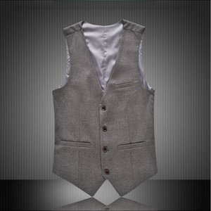6xl 5xl Dress Vests Men Slim Fit England Style Tuxedo Vest Male Waistcoat Formal Sleeveless Jacket Gray Black Red Qsox
