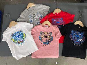 diseñador bebé niños ropa2021 verano camiseta de manga corta moda muchachos y niñas media manga camiseta corta t niños roun