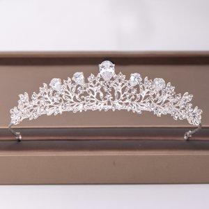 Trendy Silver Color Flower Zircon Rhinestone Crown Bridal Hair Accessories Wedding Headpiece Hair ornaments Bride crown Tiara10