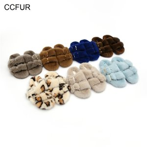 European Station Women's Fur Slippers 100% Real Mink Ladies Slides Flat Heel Fashion Luxury S6076 210622