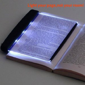 HOT Creative LED Book Light Reading Night Light Lightwedge Flat Plate Portable Car Travel Panel Led Desk Lamp for Home Indoor Kids Bedroom