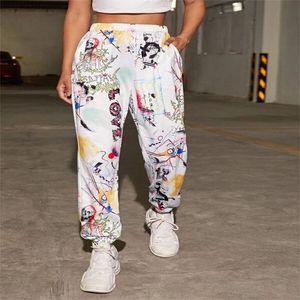 Women's Pants & Capris Goth Skull Graffiti Letter Print Sweatpants Women Bottoms 2021 Autumn Streetwear Plus Size Clothes Mujer Joggers Spor