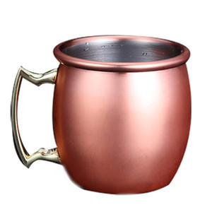 2oz Copper Mug Stainless Steel Wine Beer Cup Moscow Mule Mug Rose Gold Cocktail Wine Glasses Hammered Copper Plated Drinkware DH1256
