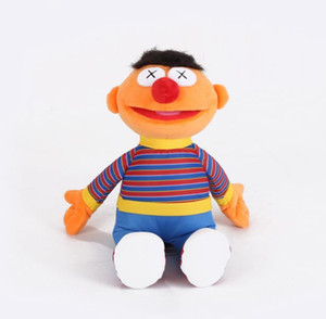 Seesame Street KAWS 5 Модели плюшевые игрушки ELMO / Big Bird / Ernie / Monster Best Couse Best Calace отличный подарок для детей