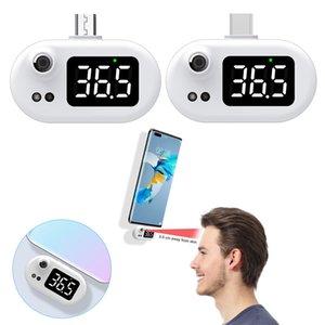 مصغرة usb ترمومتر الهاتف المحمول ميزان الحرارة الرقمي مع شاشة LED عدم الاتصال استشعار درجة الحرارة الأشعة تحت الحمراء نوع الرطوبة