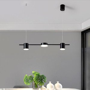 Modern Black Chandeliers With LED Bulbs Restaurant Dining Living Room Kitchen Lamp Led Chandelier Lighting Fixtures Luminaire
