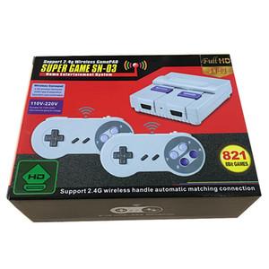 Wireless HD TV Game Console SNES821 Home Game Console SFC ad alta definizione FC Red and White Machine Nostalgic retrò
