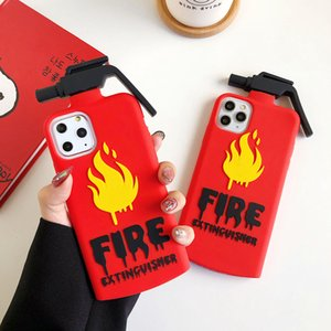 3D Cute Fire Extinguisher Pattern Phone Case For iPhone 11Pro Max Case SE Xs Max XR 6 7 8 Plus Anti Cellulite Soft Cover Fundas