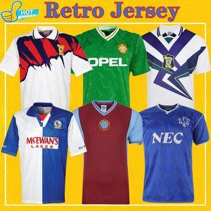Retro Fussball Jersey Schottland 88-98 Blackburn 94 95 Irland 1990 Everton 86 87 95 Aston 81 82 Villa Blackburn Classic Football Shirt