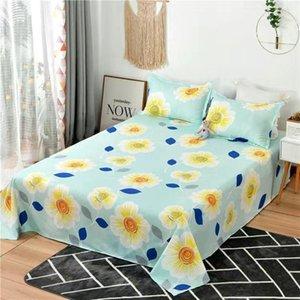 Sheets & Sets 1pcs Bed Sheet 100% Cotton Mattress Protector Cover Flat Soft 2021