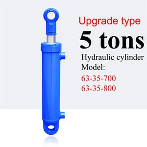 Power Tool Sets 700 800mm Stroke 5 Tonnage Upgraded Hydraulic Cylinder Heavy Duty Bidirectional Lifting Small Wood Splitter 16MPA