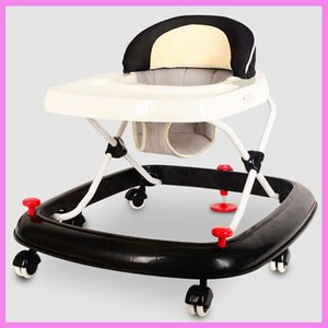 Baby Walkers Multi-function Walker With Wheels Rollover Trolley Winter Infant Walking Assistant Folding Wheelchair Adjustable Seat