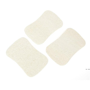 3 قطع مجموعة loofah الطبيعية غسل أطباق القماش فرك سادة صحن وعاء وعاء سهلة لتنظيف الغسيل الإسفنج المطبخ نظيفة فرش فرك الوسادة DHF5448