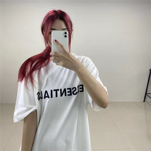 New 21ss T Shirt for Men Summer Hip Hop Fear Of God Front Essentials 3D Men Women Crew Neck Hot Sale