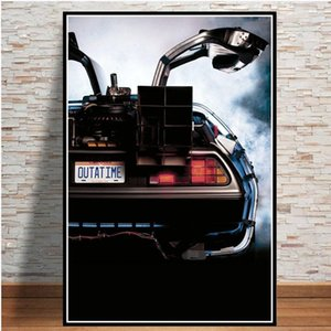 Back to the Future Movie Classic Cool Car Poster And Prints Wall Art Canvas Painting Vintage Pictures Home Decor quadro cuadros1