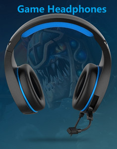 Fones de ouvido com microfone para PC Xbox One PS4 / 5 Controlador Ruído Cancelando Auriculares LED LED Bass Surround Para Jogos de Laptop
