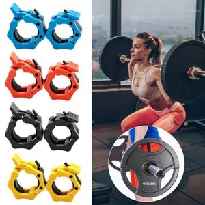 2Pcs Olympic 2'' Spinlock Collars Barbell Dumbell Clips Clamp Weight Bar Lock Body Building Portable Fitness Equipment1
