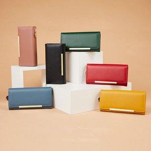 women classic zipper pocket red bottoms lady long wallet multicolor designer coin purse Card holder original box Korean version of solid col