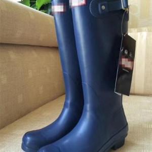 Yağmur Kauçuk Rainboots Çizmeler Kadınlar Için İngiliz Klasik Su Geçirmez Rainboots Bayanlar Wellies Wellington Mat Boot Yağmur Botları C0309