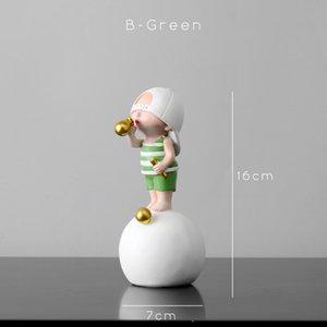 Artlovin Nordic Style Personnage Figurines Enfants Modèle Bubble Statue de gomme de salon pour la décoration de salon Décoration Moderne Accueil Décoration C0225
