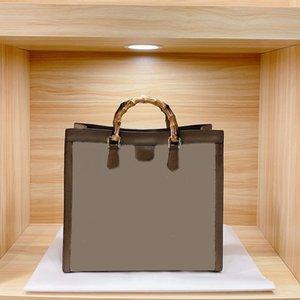 Lady Tote Bag Mummy Bag Pvc Bag Women Shopping Handbag Retro Shoulder Handbag Large Capacity Pouch Cowhide Fabric with Leather