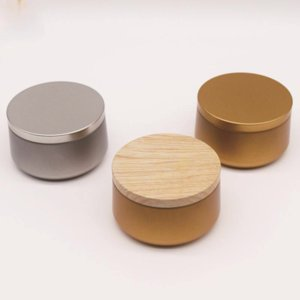 Small Tin Box Gold Round Tins Can Empty Candle Jar Ethnic Style Tea Candy Tablet Storage Boxes