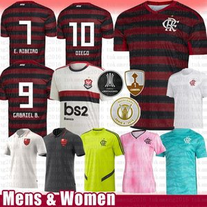 Mulheres Mulheres Gabriel B. 9 Diego 10 de Arrascaeta 14 Soccer Jersey Mancoello 11 Vinicius Jr 20 B.Henaique Flamengo Futebol Camiseta Adulto