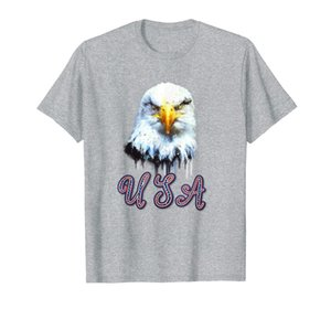 Edgy American National Bird Patriotic Bald Eagle und USA T-Shirt