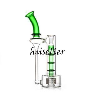 9,8 дюймов кальянов Bong Matrix Perc Percolator водяной трубку для курения аксессуары для курения Заголовочные стеклянные Установки DAB Bubbler Recycler Oil Banger с 14 мм Banger