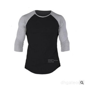 clothing New t-shirt Male Tight Panelled fitness mens workout t-shirt homme Gyms t shirt men crossfit Summer