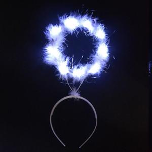 Angel Light Angel Halo LED Bandeau Coiffure Accessoires de cheveux Glow Party Décoration Carnaval Baby Douche Anniversaire Halloween Christ Qylzsl