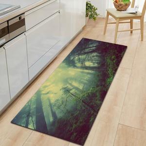 Ocean Forest Land Salon Salon Chambre Décoration Flanelle Entrée de tapis Tapis de salle de bain Tapis antidérapant