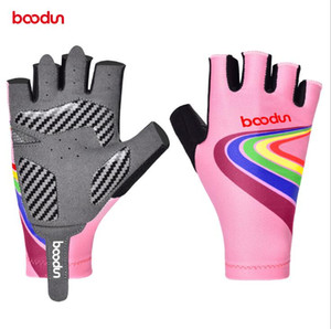 BOODUN 21 years new bicycle children's riding gloves half-finger silicone palm pad sports outdoor gloves outdoor motorcycle riding equipment