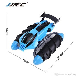 JJRC 2.4G RC Amphibious Hovercraft& Stunt Car, Water Land Dual Mode, Two Roller Side Driving, with Lights, Xmas Kid Birthday Gift, 2-1
