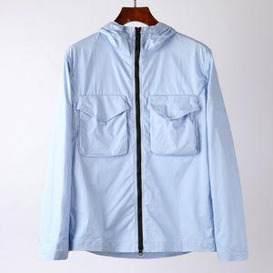Topstoney Mens Jacket 윈드 브레이커 스웨터 캐주얼 코트 안지 지퍼 Cyberpunk 야외 후드 가스 스트리트웨어 3 색 M-2XL