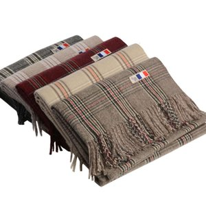 New thousand bird scarf in autumn winter Wool Plaid simple Korean version thickened neck for men and women