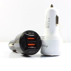 Высокое качество TE-092 автомобильное зарядное устройство алюминиевая оболочка двойной QC3.0 порты USB портативные быстрые зарядки без пакета универсальный для смартфонов