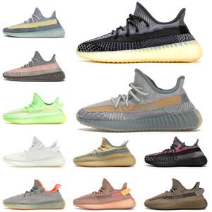 Boost 350 Israfil Qualité Kanye Chaussures De Course Cinder Linen Hommes Femmes Tail Light Desert Sage Mode Yecheil STOCK X Marsh Baskets Sneaker Taille 13