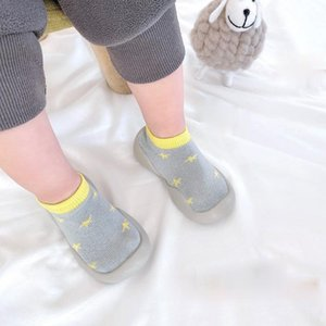 0-4yars Baby Socks Shoes Infant Girls Blue Cartoons Shoes Kids Boys Doll Soft Soled Child Floor Shoe Toddler First Walkers
