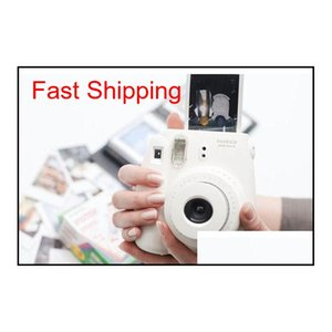 White Films For Mini 90 8 25 7S 50S Polaroid Instant Camera Fuji Instax Mini Film White Edge Cameras Papers Accessories 10Pcs Set Qb1L 50Vxz