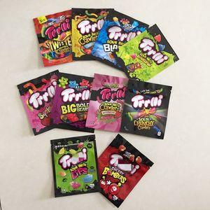 edibles baggies 600mg Trilli Sourz gummmies smell proof Trips Ahoy Snack gummy zipper mylar bags