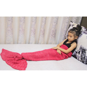 10colors 90*50cm Mermaid Tail Blankets Mermaid Tail Sleeping Bags Cocoon Mattress Knit Sofa Blanket Handmade Living R jllmGl insyard
