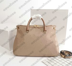 Pallas MM 2way Bayan Omuz Çantası El Alışveriş Çantası Delikli Deri Crossbody Tasarımcılar Luxurys Çanta Pallas M40906 Hobos Totes
