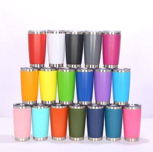 Moda 20 oz bebiendo tazas de vaso con tapa de sello Copa de vino de acero inoxidable Copa aislada de vidrio Viaje 18 Color BY1688