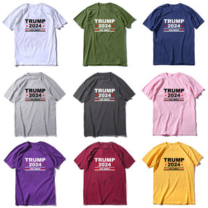 Summer Presidential Election T-shirt Trump 2024 Because America Can Never Be Too Great MAGA Tshirts Brand Sweat Shirt Sport Tee Tops G3303