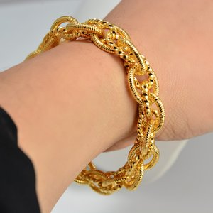 Dubai Bangles For Man Women Bangles Africa Chain Jewelry Gold color Bangle&Bracelet Ethiopian Wedding Bride Jewelry